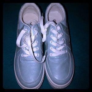Sky walk platform tennis shoes